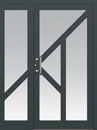 ERKA Aluminium Haustüren von Kompotherm – Modelltüre 3150